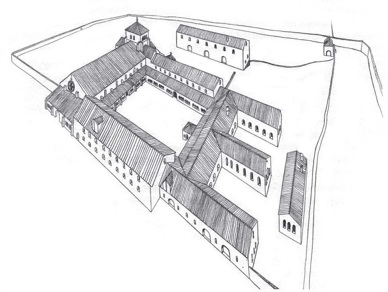 schéma de l'Abbaye de Bonmont