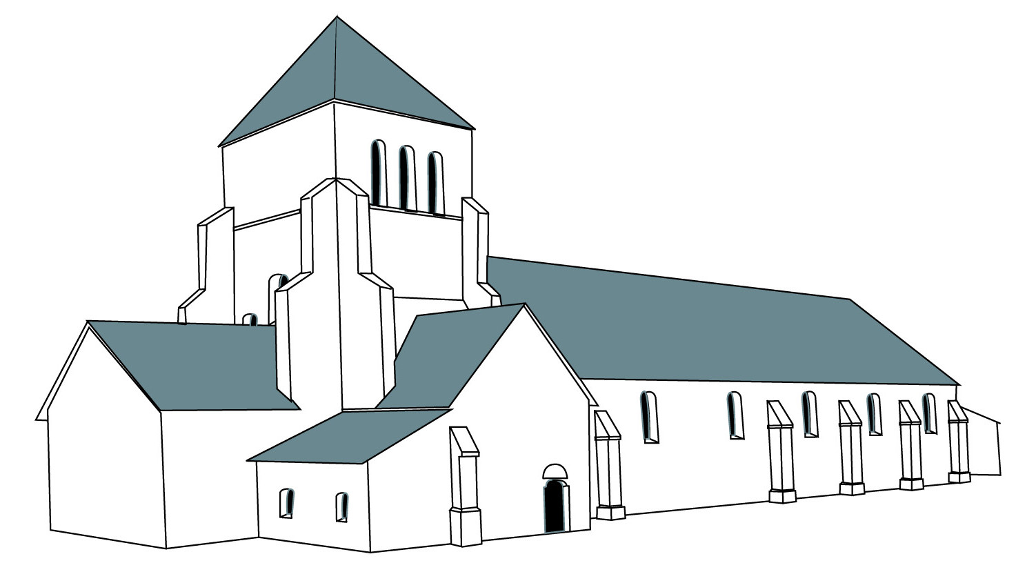 Abbaye de Bonmont schéma